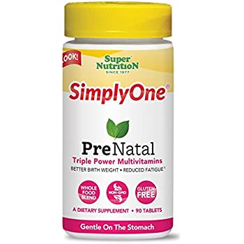 SuperNutrition SimplyOne Prenatal and Maternity Health Multivitamin, 90 Count
