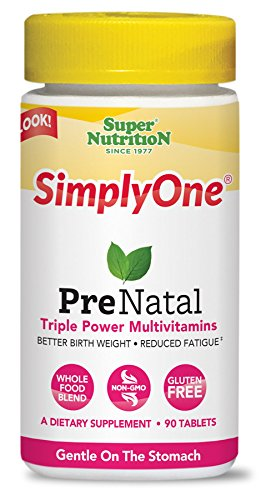 SuperNutrition SimplyOne Prenatal Multivitamin,  90 Day Supply; Best Value Pack (Best Prenatal Vitamins For Anemia)