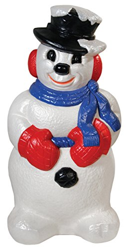 Derby Snowman, 31-Inch (Decorations Christmas Mold Blow Plastic)