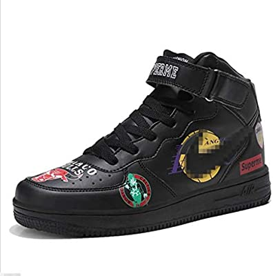 109dcff9228 SHANGWU Men s Daily Casual High-top Sneakers Ms. Increase Height Hip Hop  Graffiti Air