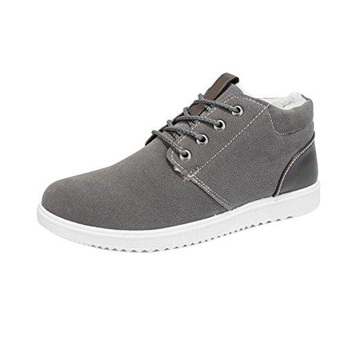 Pelzfutter Sneaker Flache Haodasi Sportschuhe Lace Warme Outdoor Grau Casual Up Stiefel Winter Männer Atmungsaktive Fashion