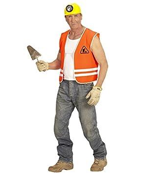 fc77aeafe Adult Unisex Construction Worker Builder Orange Vest & Yellow ...