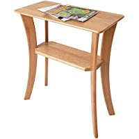 Manchester Wood Contemporary Cherry Chairside Table - Natural Cherry
