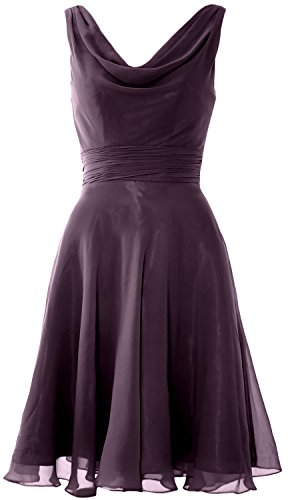 Bridesmaid Neck Dress Cocktail Wedding Party Short Cowl Macloth wx8Tw