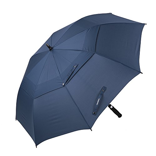 TOMSHOO Automatic Open Golf Umbrella 61 Inch Ov...