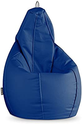 HAPPERS Puff Pera Polipiel Outdoor Azul XL: Amazon.es: Hogar