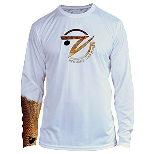 Sleeve Performance Fishing Shirt (Gillz Extreme Series Performance Shirt: Long Sleeve Half Sleeve Fish Graphic, Bass, Mahi, or Redfish (XXL, Redfish))