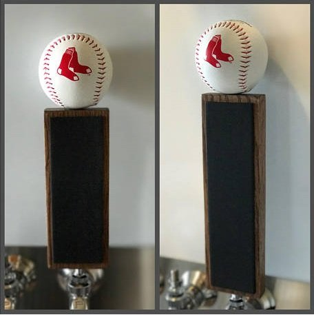 Red Tap Handle (Boston Red Sox Baseball Chalkboard Tap Handle (9.5