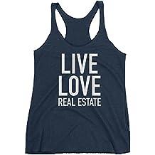 Get Thread Live Love Real Estate - Estate Agent Slogan Womens Racerback Tank Top