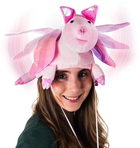 Tigerdoe Pig Hat - Flapping Wings Hats - Animal Hats - Farm Theme Party - Costume -