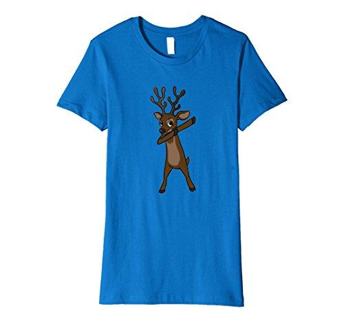 Womens Funny Elk T Shirt Christmas Gift Elk Dabbing Dab Dance Large Royal Blue - Dancing Elk