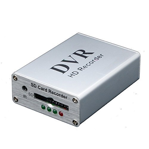 Coomatec Mini DVR support SD card Real-time Digital Video Recorder for fpv and vehicle HD mini 1 channel MPEG-4 video (Digital Recorder Mpeg4 Dvr Video)