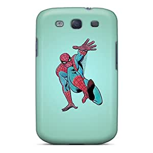 Hot Tpye Greenish Spider Man Case Cover For Galaxy S3