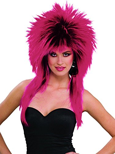 Forum Novelties Women's 80's To The Maxx Spiky Rocker Wig Pizazz, Purple, One Size -