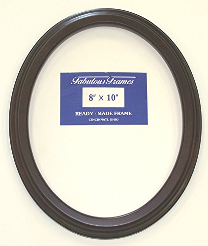 (Oval Mahogany Picture Frame 8