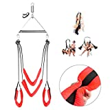 Adult Indoor Swing Set 360 Degree Spinning Swivel Swing - Holds Up to 600 LBS - Easy to Install - All Accessories Included - Fantasy Adult Toy for Couple Play (Red)