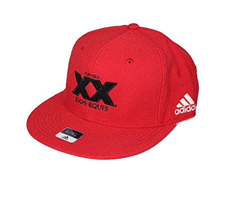 dos-equis-adidas-flat-bill-baseball-hat-red-l-xl