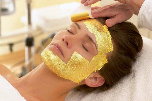 24 K Facial Mask Gold Leaf for Spa. Thailand 100% Real Gl...
