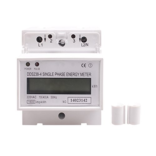 GUWANJI 1 Pcs DDS238-4 (10-40) Single Phase DIN-rail Type...