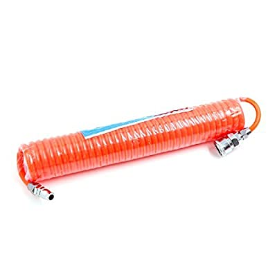 6M Length 8mm x 5mm Polyurethane Coiled Air Hose Tube Pipe Red