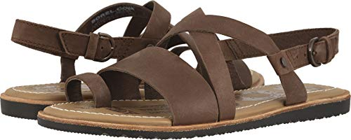 - Sorel Women's, Ella Criss Cross Sandals Tobacco 9.5 M