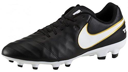 Nike Tiempo Genio II Leather TF Herren Fußballschuhe schwarz - weiß - gold