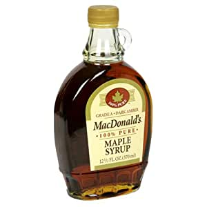 MacDonald's Maple Syrup, 12.5-Ounce Bottle (Pack of 3)