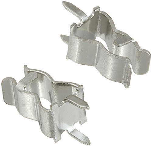 50 Pcs Plug In Clip Clamp for 5 x 20mm Electronic Fuse Tube ()