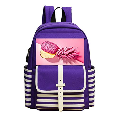 Pink Pineapple Backpack School Bags Student Book Bag Daypack For -