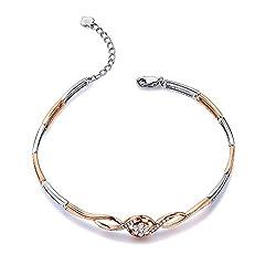 Multi-tone Gold Diamond Bracelet