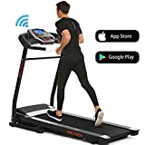 ANCHEER Treadmill, Folding Electric Treadmills, Motorized Running APP Contral Treadmills with Rolling Wheels