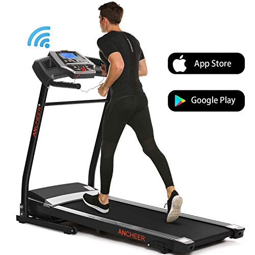 ANCHEER Treadmill, Folding Electric Treadmills, Motorized Running Treadmills with Rolling Wheels...