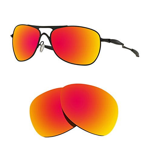 Littlebird4 2 Pairs 1.5mm Polarized Replacement Lenses for Oakley Crosshair Sunglasses - Multiple Options (Silver+Fire Red) by Littlebird4 (Image #2)