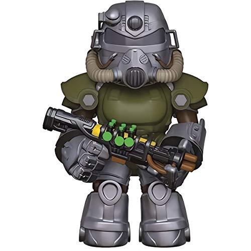 Funko Power Armor T51: Fallout x Mystery Minis Mini Vinyl Figure & 1 PET Plastic Graphical Protector Bundle [33969 - -