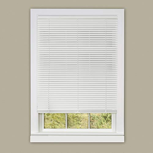 "Ben & Jonah PrimeHome Collection Cordless Deluxe Sundown 1"" Room Darkening Mini Blind 39x64-White, White"