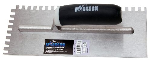 (Markson Soft Grip Square Notch Finishing Trowel (1/4