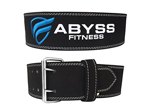 Genuine Leather Pro Weightlifting Belt for Men and Women | Durable Comfortable & Adjustable with Buckle | Stabilizing Lower Back Support for Weightlifting |10 mm Powerlifting Belt (Large) For Sale