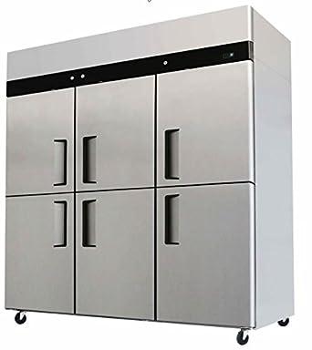 refrigerator and freezer. 71\u0026quot; 6 door refrigerator and freezer combo stainless steel reach in commercial fridge/freezer l