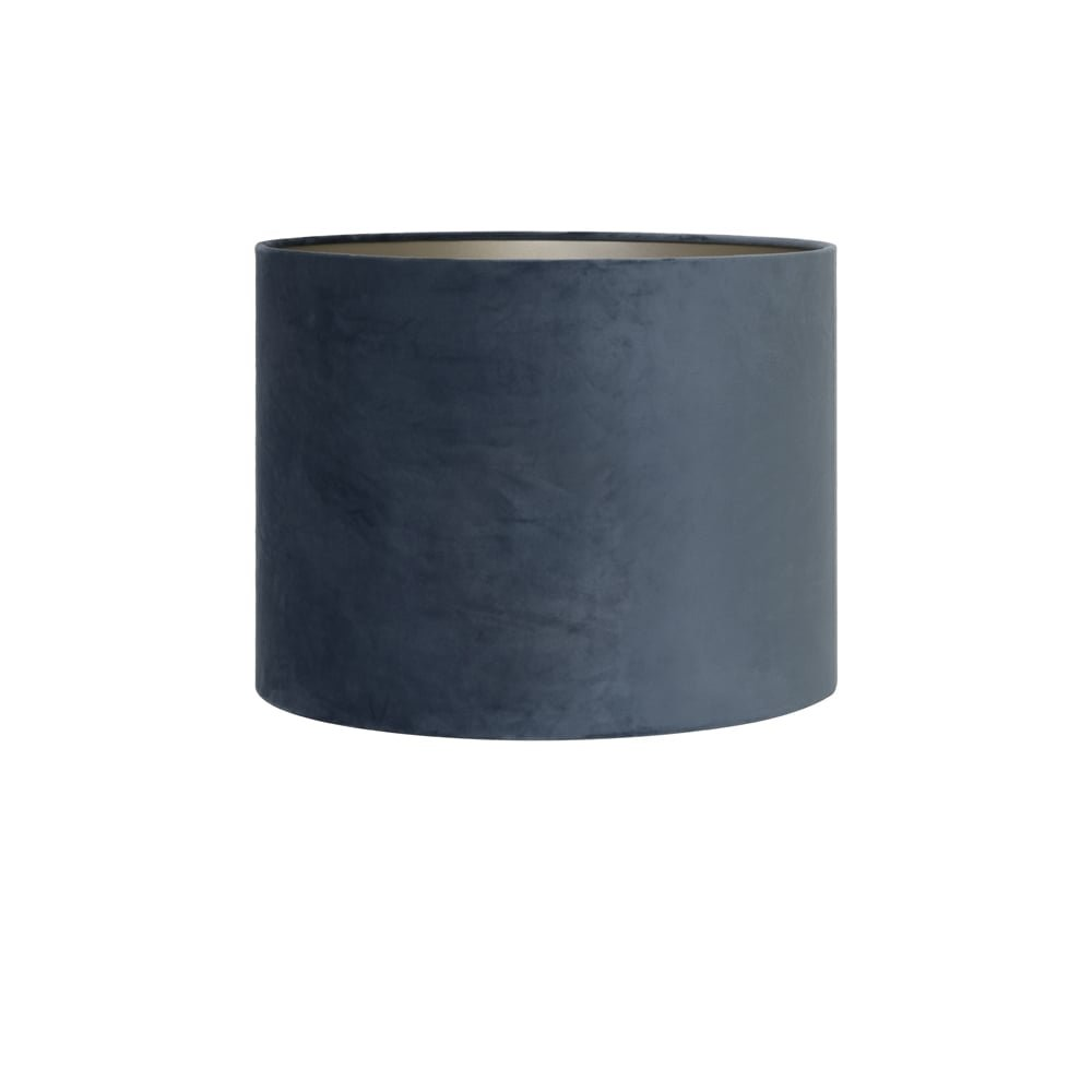 Light & Living Abat-jour Cylindre 20–20–15 cm velours Dusty Bleu