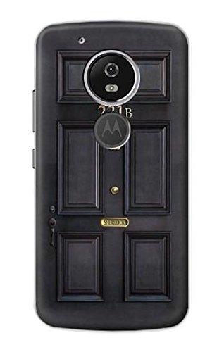 - R2851 Sherlock Holmes Black Door 221B Case Cover For Motorola Moto G6 Play, Moto G6 Forge, Moto E5
