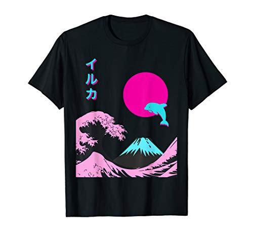 Retro Aesthetic Iruka Tee With Japanese Writing T-Shirt