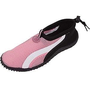 Womens Water Shoes Aqua Socks Pool Beach ,Yoga,Dance and Exercise (7, Pink 2906)