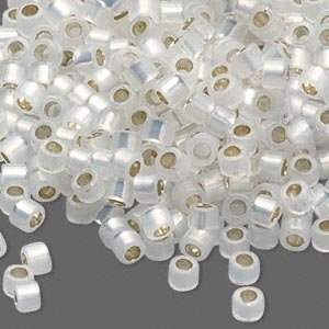 50 Grams Silver-lined White Opal, (Db221) Delica Myiuki 11/0 Tube Cut Round Seed Bead Approx 10,000 Beads