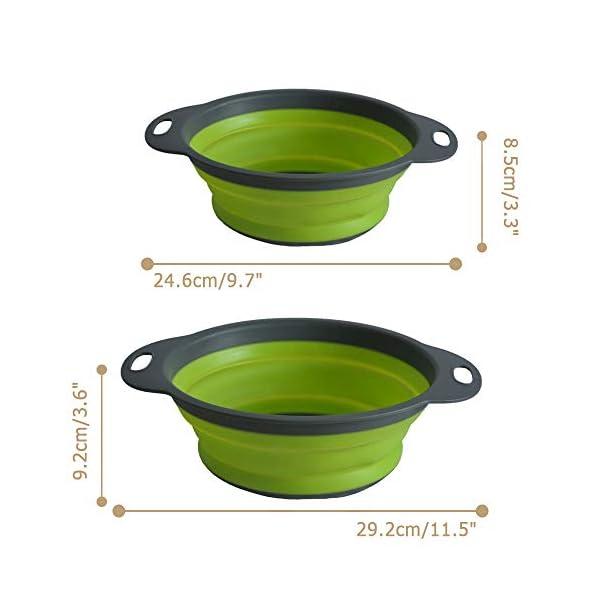 ANPI 2 Stücke Zusammenklappbares Sieb, Quadratisch Faltbarer Seiher Set Früchtekorb Gemüsekorb Kochendes Wasser Sicher…