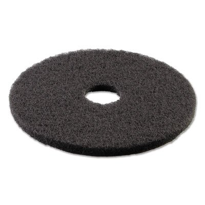 "Boardwalk 4016BLA Standard Stripping Floor Pads, 16"" Diameter, Black (Case of 5)"