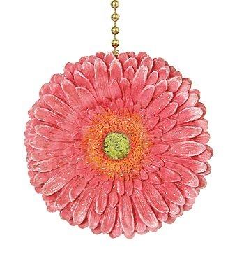 Clementine Design Gerber Pink Daisy Ceiling Fan Light Pull