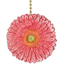 Clementine Design Gerber Pink Daisy Ceiling Fan Light Pull