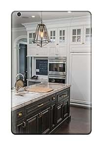 MMZ DIY PHONE CASE[dhzRJLB8817xnDpk] - New White Traditional Kitchen With Wood-paneled Refrigerator And Contrasting Island Protective Ipad Mini/mini 2 Classic Hardshell Case