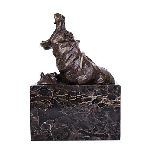 Toperkin Bronze Statues Animal Sculptures Hippo Artwork Home Decor Metal Collection TPAL-276 by Toperkin