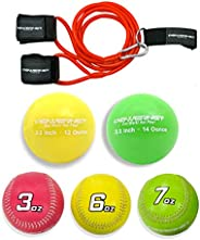 PowerNet Arm Care Bundle | Baseball Softball Strength and Conditioning PowerBands + Plyo Balls + Weighted Base